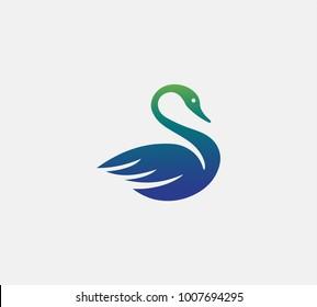 Swan logo vector,