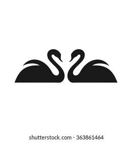 swan logo vector.