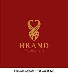 Swan luxury logo facing each other head. Loyalty symbol. luxurious and elegant!