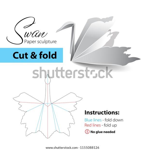 Origami Swan   620x600