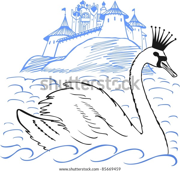 Swan and palace