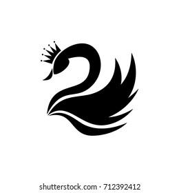 Swan Silhouette Illustration