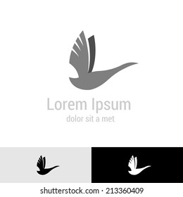 Swan silhouette logo template