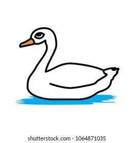 swan vector animal