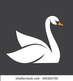 swan vector icon