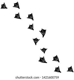 Swan Walking Foot print designs
