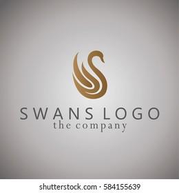 swans ideas design vector illustration on background