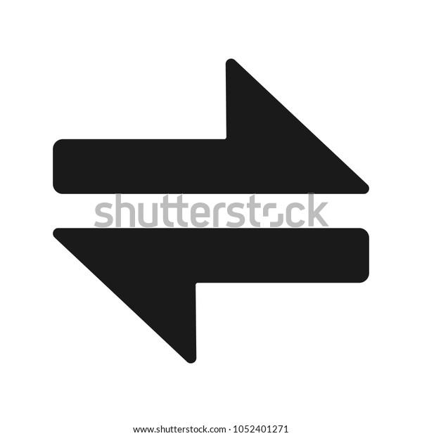 Swap Arrow Icon Stock Vector (Royalty Free) 1052401271