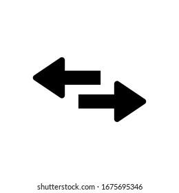 Swap icon vector. Reverse arrows illustration. Transfer icon. Exchange icon