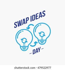 Swap Ideas day logo design template. Vector Illustration. flat style design