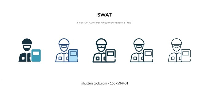 swat icon in different style vector illustration. two colored and black swat vector icons designed in filled, outline, line and stroke style can be used for web, mobile, ui
