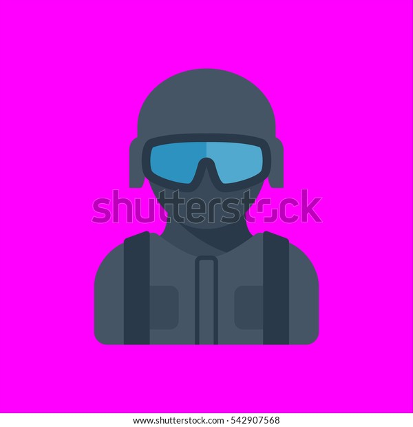 swat icon flat disign