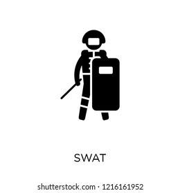 Swat icon. Swat symbol design from Professions collection. Simple element vector illustration on white background.