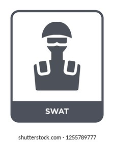 swat icon vector on white background, swat trendy filled icons from Law and justice collection, swat simple element illustration
