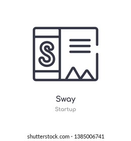 sway outline icon. isolated line vector illustration from startup collection. editable thin stroke sway icon on white background