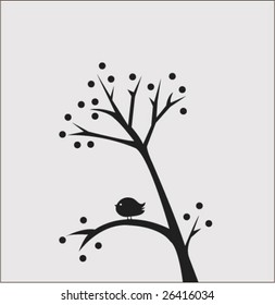 swaying tree with little bird