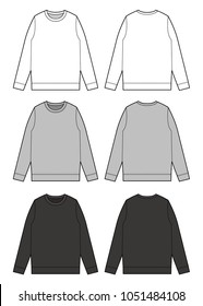 Sweat shirt vector illustration flat sketches template