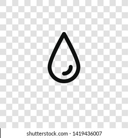 sweat or tear drop outline icon from  collection for mobile concept and web apps icon. Transparent outline, thin line sweat or tear drop outline icon for website design and mobile, app development