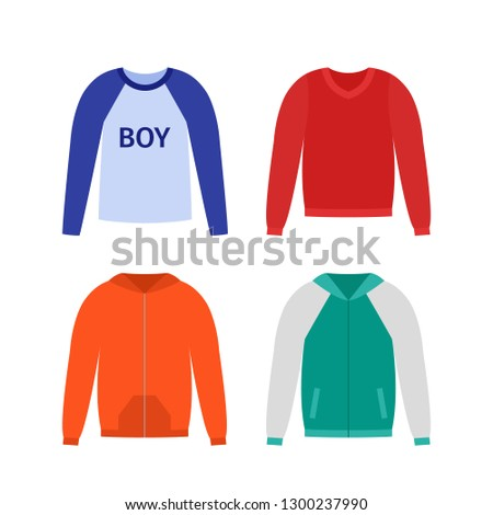 42ff875ca Sweater Boy Vector Baby Jumper Kid Stock Vector (Royalty Free ...