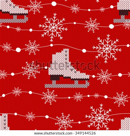 sweater design seamless knitting pattern holiday stock vector