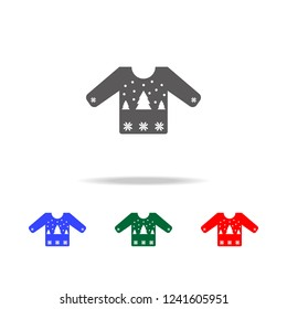 Sweater or jumper with fir tree icon. Elements of Christmas holidays in multi colored icons. Premium quality graphic design icon. Simple icon for websites, web design, mobile app
