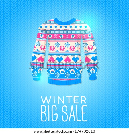 f6c53615b39b Sweater Sale Winter Illustration May Be Stock Vector (Royalty Free ...