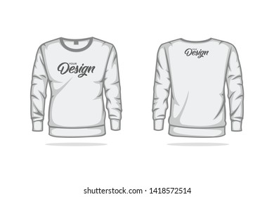 Sweater sweatshirt mock up vector template illustration