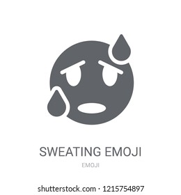 Sweating emoji icon. Trendy Sweating emoji logo concept on white background from Emoji collection. Suitable for use on web apps, mobile apps and print media.