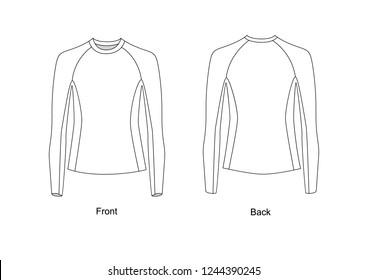 Sweatshirt, vector sketch