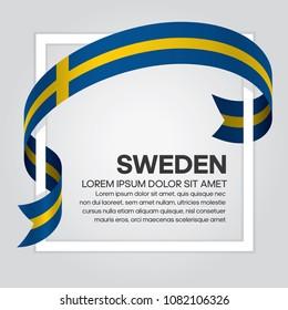 Sweden flag background