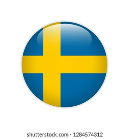 Sweden flag on button