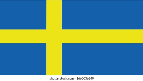 Sweden Flag Vector - Official Sweden Flag With Original Color and Size Proportion