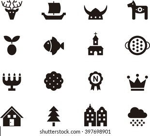 SWEDEN flat glyph icons