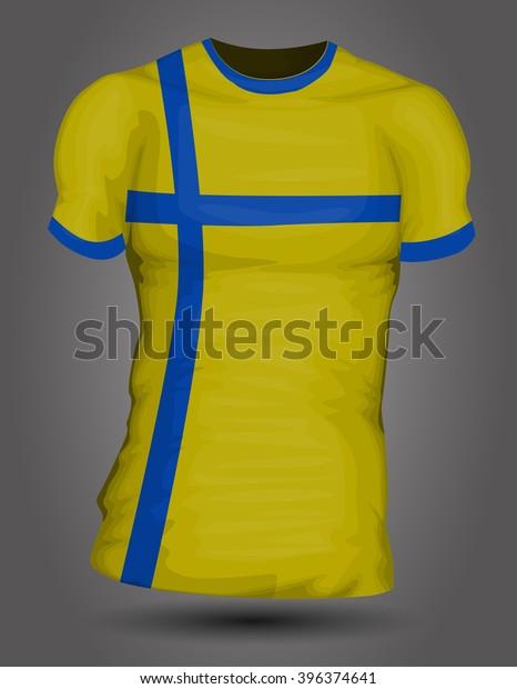 timeless design a50ea 26c81 Sweden Soccer Jersey Stock Vector (Royalty Free) 396374641