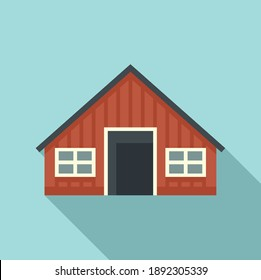 Sweden wood house icon. Flat illustration of sweden wood house vector icon for web design