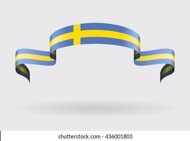 Swedish flag background. Vector illustration.