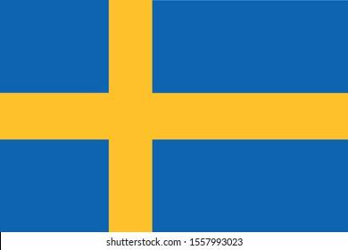 swedish flag vector, proportions 2:3