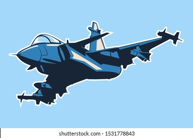 Swedish modern fighter jet icon vector illustration