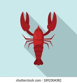 Swedish red crayfish icon. Flat illustration of swedish red crayfish vector icon for web design