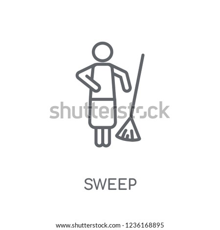 sweep linear icon modern outline sweep stock vector royalty free