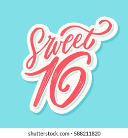 Sweet 16. Hand lettering.