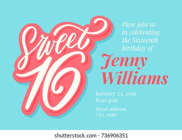 80d50182 16th Birthday Images, Stock Photos & Vectors | Shutterstock