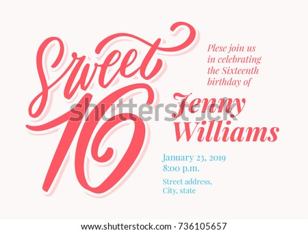 Sixteenth Birthday Invitation Template