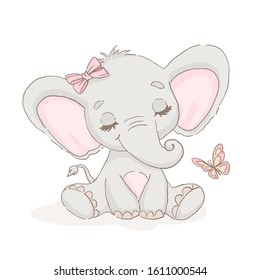 Sweet baby elephant for Valentine's Day