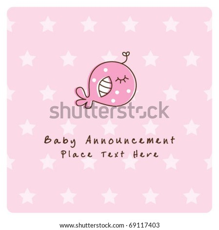 575d19e39051 Sweet Baby Fish Birthday Card Stock Vector (Royalty Free) 69117403 ...