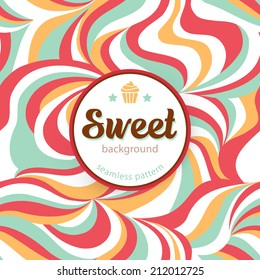 Sweet background. Seamless pattern. Vector illustration