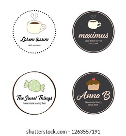 sweet bakery and coffee cafe logo collection eps10 vectors illustration