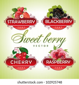 Sweet berry. Strawberry, blackberry, cherry, raspberry