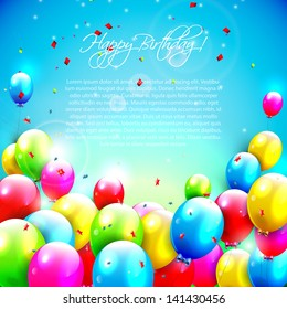 Sweet birthday background with copy-space