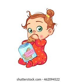 Cartoon Illustration Of Boy Eating Tasty Cookie Royalty Free Cliparts,  Vectors, And Stock Illustration. Image 36229741.